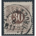 SWEDEN - 1872 30öre blackish brown Ring Type, perf. 14, used – Facit # 25f