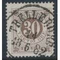 SWEDEN - 1877 30öre olivish brown Ring Type, perf. 13, used – Facit # 35g