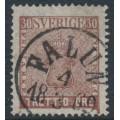 SWEDEN - 1858 30öre brown Coat of Arms, used – Facit # 11e1