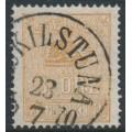 SWEDEN - 1863 3öre orange-brown Lying Lion, used – Facit # 14Bd
