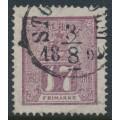 SWEDEN - 1866 17öre reddish lilac Lion, used – Facit # 15b2