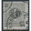 SWEDEN - 1876 4öre grey Ring Type, perf. 14, 'white spots in value circle', used – Facit # 18a