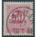 SWEDEN - 1878 50öre violet-carmine Ring Type, perf. 13, used – Facit # 36c