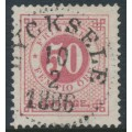 SWEDEN - 1878 50öre carmine-rose Ring Type, perf. 13, used – Facit # 36h