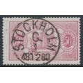 SWEDEN - 1874 50öre violet-carmine Official (Tjänstemärke), perf. 14, used – Facit # TJ9a