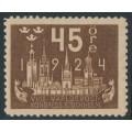 SWEDEN - 1924 45öre brown World Postal Congress, MH – Facit # 204