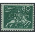 SWEDEN - 1924 80öre blue-green UPU Anniversary, MH – Facit # 222