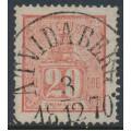 SWEDEN - 1866 20öre pale red Lying Lion, used – Facit # 16e