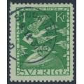 SWEDEN - 1924 1Kr green UPU Anniversary, used – Facit # 223