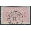 SWEDEN - 1874 50öre violet-rose Official (Tjänstemärke), perf. 14, used – Facit # TJ9b