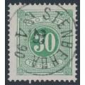 SWEDEN - 1877 30öre green Postage Due (Lösen), perf. 13, used – Facit # L18e