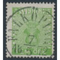 SWEDEN - 1858 5öre yellow-green Coat of Arms, used – Facit # 7f1