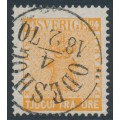 SWEDEN - 1858 24öre reddish orange Coat of Arms, used – Facit # 10h2