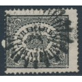 SWEDEN - 1856 1Skilling black Local Stamp [original plate], used – Facit # 6a2