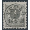 SWEDEN - 1876 4öre grey Ring Type, perf. 14, used – Facit # 18a