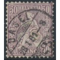 SWITZERLAND - 1867 50c purple-lilac Sitting Helvetia (Sitzende Helvetia), used – Zumstein # 43a