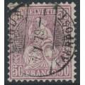SWITZERLAND - 1867 50c lilac Sitting Helvetia (Sitzende Helvetia), used – Zumstein # 43