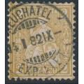 SWITZERLAND - 1881 2c yellow-olive Sitting Helvetia (Sitzende Helvetia), used – Zumstein # 44a