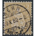 SWITZERLAND - 1881 2c olive-brown Sitting Helvetia (Sitzende Helvetia), used – Zumstein # 44b