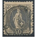 SWITZERLAND - 1894 40c black Standing Helvetia, very heavy and oily print, used – Zum. # 69D.1.05