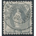 SWITZERLAND - 1904 40c grey Helvetia, perf. 11¾:11¾, oval watermark (Kz. II), used – Zum. # 76F