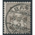 SWITZERLAND - 1906 3c brown-grey Cross & Numeral, crosses watermark, used – Zumstein # 81
