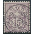 SWITZERLAND - 1889 15c pale matt purple Cross & Numeral, granite paper, oval watermark (Kz. I), used – Zumstein # 64Ab