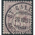 SWITZERLAND - 1889 15c matt purple Cross & Numeral, granite paper, oval watermark (Kz. I), used – Zumstein # 64Aa