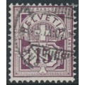 SWITZERLAND - 1889 15c brown-purple Cross & Numeral, granite paper, oval watermark (Kz. I), used – Zumstein # 64Ac