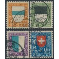 SWITZERLAND - 1922 Pro Juventute set of 4, used – Michel # 175-178