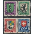 SWITZERLAND - 1925 Pro Juventute set of 4, used – Michel # 214-217