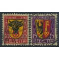 SWITZERLAND - 1918 Pro Juventute set of 2, used – Michel # 143-144