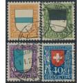 SWITZERLAND - 1922 Pro Juventute set of 4, used – Michel # 175-178