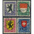 SWITZERLAND - 1924 Pro Juventute set of 4, used – Michel # 209-212