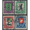 SWITZERLAND - 1925 Pro Juventute set of 4, used – Michel # 214-217