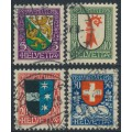 SWITZERLAND - 1926 Pro Juventute set of 4, used – Michel # 218-221