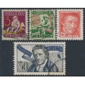 SWITZERLAND - 1927 Pro Juventute set of 4, used – Michel # 222-225