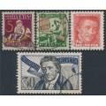 SWITZERLAND - 1927 Pro Juventute set of 4, used – Michel # 222-225
