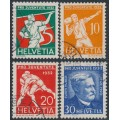 SWITZERLAND - 1932 Pro Juventute set of 4, used – Michel # 262-265