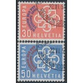 SWITZERLAND - 1959 PTT Conference overprint set of 2, used – Michel # 681-682