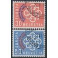 SWITZERLAND - 1959 PTT Conference overprint set of 2, used – Michel # 681-682