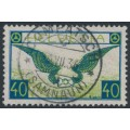 SWITZERLAND - 1929 40c blue/green Airmail on smooth paper, used – Michel # 234x