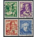 SWITZERLAND - 1933 Pro Juventute set of 4, used – Michel # 266-269