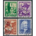 SWITZERLAND - 1934 Pro Juventute set of 4, used – Michel # 281-284