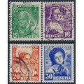 SWITZERLAND - 1936 Pro Juventute set of 4, used – Michel # 306-309