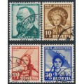 SWITZERLAND - 1940 Pro Juventute set of 4, used – Michel # 373-376