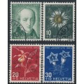 SWITZERLAND - 1943 Pro Juventute set of 4, used – Michel # 424-427