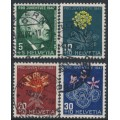 SWITZERLAND - 1947 Pro Juventute set of 4, used – Michel # 488-491