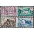 SWITZERLAND - 1949 Pro Patria set of 4, used – Michel # 525-528