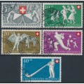 SWITZERLAND - 1951 Pro Patria set of 5, used – Michel # 555-559